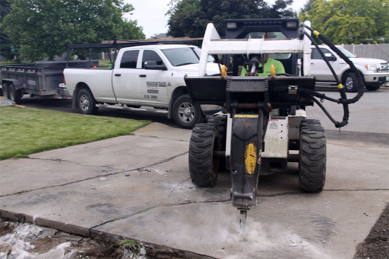 Rockhard concrete residential and commercial concrete for Removing concrete driveway
